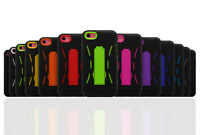 Robot Shockproof Hybrid Kickstand Protective Case Cover for iPhone 5c