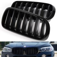 For 2015-2019 BMW F16 X6 Gloss Black Front Hood Bumper Kidney Grille Grill