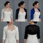 Ladies/Women 3/4 Sleeve Wedding Bridal Bolero Jacket Shrug Cardigan Mother Dress