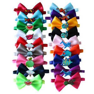 Summer Cute Pet Puppy Dog Cat Bow Ties Adjustable Bowties Pet Grooming Accessory