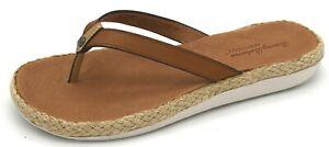 A601 New Women's Tommy Bahama Flip-Flop Sandal Ionna Burnished Vachetta 8 M