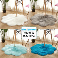 Fluffy Long Plush Carpet Area Sofa Rugs Floor Mat Chair Cover Pad Home Bedroom