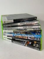 Lot of 7 Xbox 360 Games Crysis 2 GTA V Skyrim Crackdown BF3 Batman Mortal Kombat