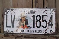 19 NEVADA 05 LAS VEGAS METAL LICENSE PLATE # LV1854 TIN PLATE HOME DECOR