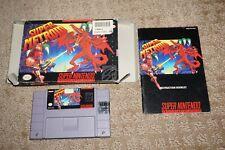 Super Metroid (Super Nintendo SNES) Complete in Box GOOD Shape