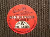 VINTAGE OLD MILK BOTTLE CAP SEAL AUSABLE DAIRY AUSABLE FORKS NY