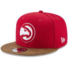 New Era Atlanta Hawks Butter Faux Leather Visor 9Fifty Snapback Cap Hat
