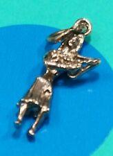 Charm D48 Hula Dancer Sterling Silver Vintage Bracelet