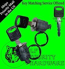 Ford Mazda Mercury Pair of Two 2 Door Key Lock Cylinders 3 OEM Ford Logo Keys