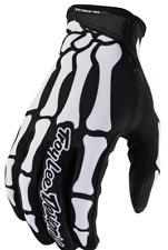 TROY LEE DESIGNS YOUTH BOYS BLACK WHITE SKULLY MTB CYCLING AIR GLOVES SMALL