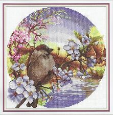 Counted Cross Stitch Kit Soft Wind (bird)