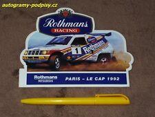 Sticker/Aufkleber - (1992) Mitsubishi Pajero Rothmans Paris-Dakar/2