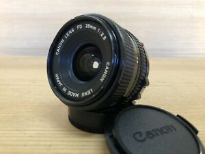 Near Mint Canon New FD NFD 28mm F/2.8 Wide Angle MF Lens From Japan #N8-48B