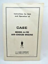 1956 Case A 125 Air Cooled Engine Care Amp Operation Instructions 2nd Edition