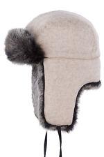 Stetson Trapper Pilot Hat Shapka Uschanka Wool Faux Fur Cromwell 72 Trend