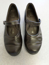 SAS dark brown leather Mary Janes. Women's 8 M made in USA!