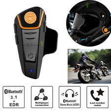 1000m Bluetooth Motorcycle Helmet Intercom Headset Interphone Radio Waterproof