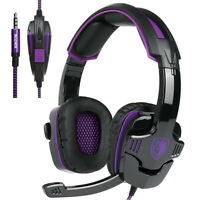 SADES 3.5mm Gaming Headsets with Mic Noise Cancellation Stereo Music Headphones