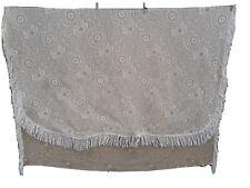 M&S Throw / sofa blanket 100% cotton, thick, quality, warm, tassled