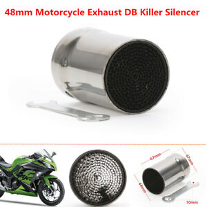 48mm Motorcycle Bikes Exhaust DB Killer Silencer Muffler Baffle Kit 67mm Length