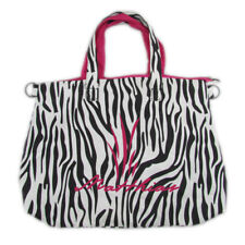 All Purpose Travel Beach Laundry Shopping Zipper reversible zebra pink Tote Bag