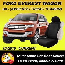 Car Seat Cover To Fit Ford Everest Wagon Front Middle & Rear 2015 - Current