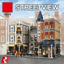 Assembly square Modular 10th Anniversary streetview Building Toys Blocks 15019