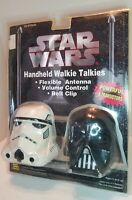 Vintage Star Wars Darth Vader Storm Trooper Walkie Talkie Set MGA NIP NOS