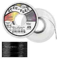 30' Accuflex Midnight Black 49 strand .024in Accu-flex Beading Wire NEW!