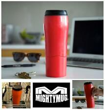 Vibrant Red Mighty Mug The Best Travel Mug Ever that won't Fall Over! No Spills