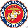"United States Of America USA Marine Corps Retired Decal Window Sticker USMC 4"""