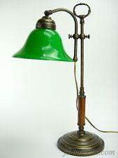 Lampada ottone ministeriale ufficio scrivania da tavolo vetro stile liberty slp2