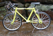 Miniature Die cast Yellow Racing Bicycle 1/10 Scale
