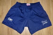 """SALE SHARKS RUGBY-Player Style-NEW UNWORN-NAVY 38""""Waist Rugby Shorts Embroidered"""