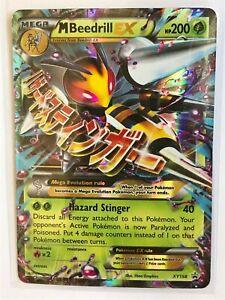 Mega Beedrill EX ULTRA RARE XY158 Pokemon Holo TCG Card NM