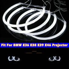4pcs LED COB Angel Eye Halo Light Kit For BMW E46 E39 E38 E36 White 3 5 7 series