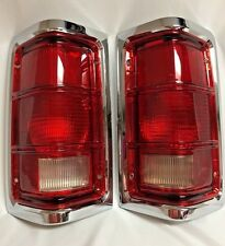81-93 DODGE RAM PU TRUCK TAILLIGHTS W/CHROME TRIM (PAIR RH AND LH)
