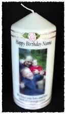 Nana Birthday candle with your own special photo message