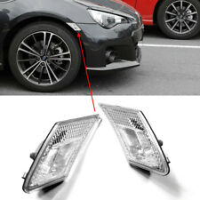 For FRS FR-S BRZ GT86 12-18 3D Clear Side Marker Signal Bumper Light Conversion
