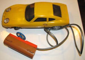 1970s Playart 1/16 Remote Control Opel GT 1900 in Yellow Teleguide Hong Kong