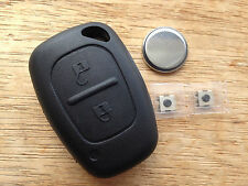 RENAULT 2 BUTTON TRAFIC MASTER VAN REMOTE KEY FOB CASE FULL REPAIR KIT