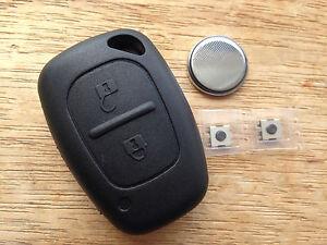 HIGH QUALITY FIT Vauxhall 2 button Movano Vivaro REMOTE KEY FOB CASE REPAIR KIT