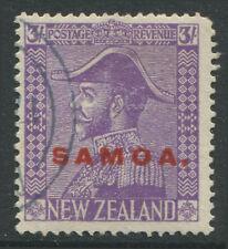 Samoa KGV 1927 violet overprinted Samoa in red CDS used