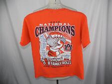 Auburn Tigers s/s Orange Cotton Shirt Youth sz Large 2010 National Champions