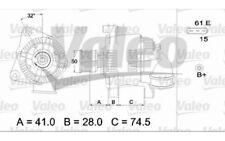 VALEO Alternador para BMW Serie 3 5 X5 Z3 437366