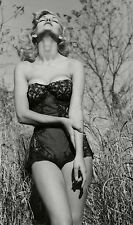 WW2 Photo WWII  World War Two Girl in Nighty Pinup Nightgown Starlet  / 1507