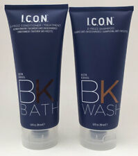 I.C.O.N. ICON D Frizz BK Wash Shampoo & Bath Conditioner 6.8 oz Biotin Keraveg