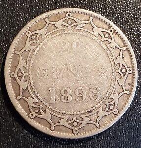 Newfoundland 1896 20 Cents - Silver - Victoria
