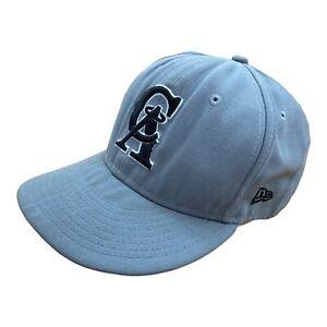 New Era Embroidered Baseball Cap Hat California Angels 7 5/8 Grey Los Angeles
