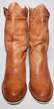 VERA GOMMA Women's Soft Lether Brown Ankle Heels Boots! Made In Italy! Size 8.5